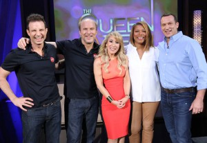 Marc and Jeff with Shark Tank investor Lori Greiner on Queen Latifah